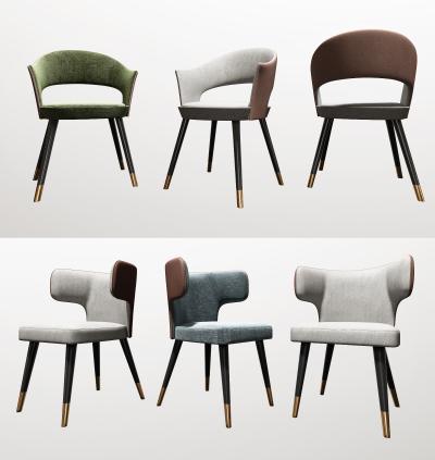 现代轻奢餐椅组合