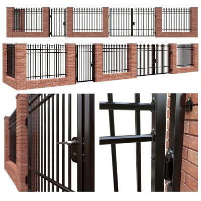欧式铁艺院门围墙