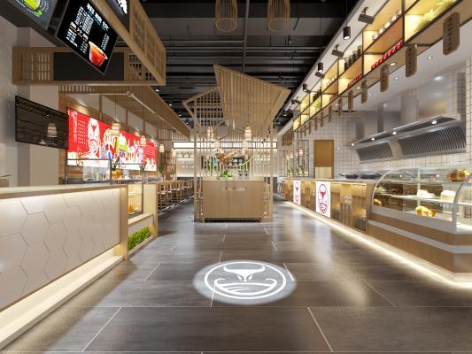 新中式快餐店火锅店