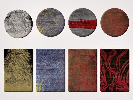 现代轻奢布艺地毯 轻奢地毯