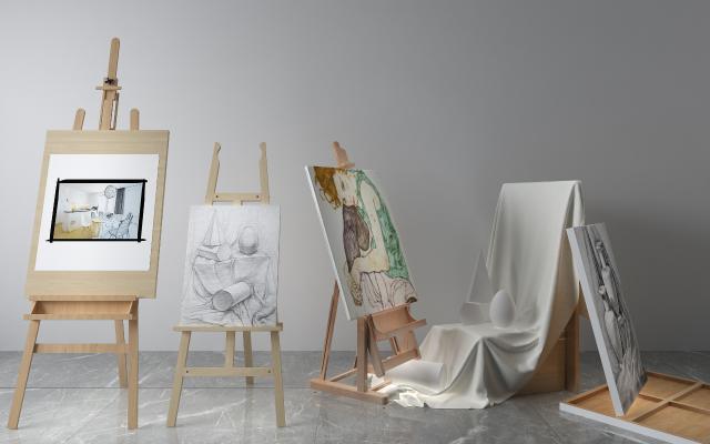 現代畫架 石膏體