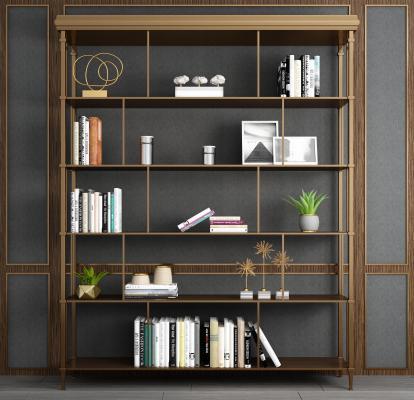 现代风格装饰柜架 金属铁艺装饰柜 书柜