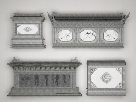 传统中式庭院影壁照壁组合