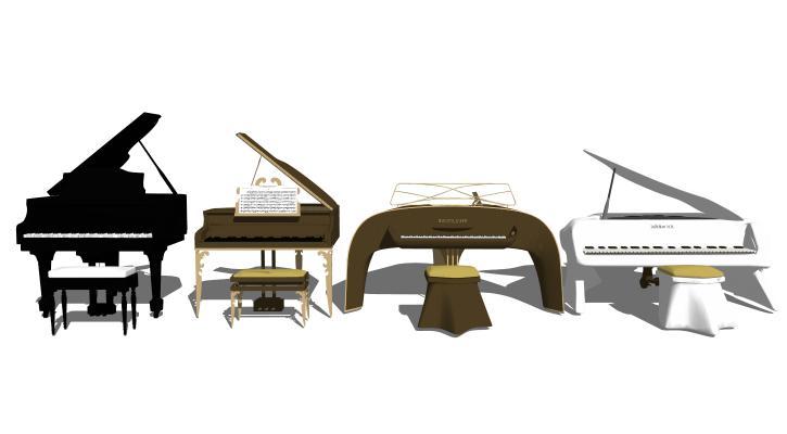 现代乐器 钢琴组合