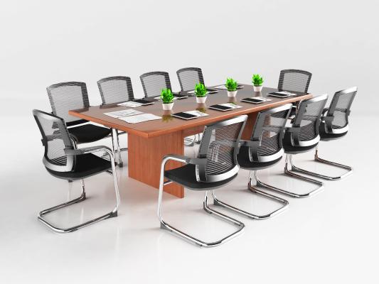 现代会议桌 会议椅 办公室