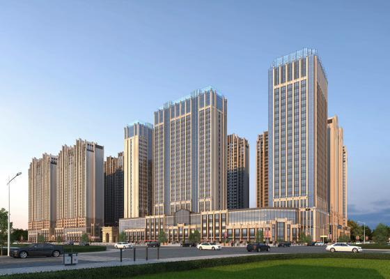 新古典商业区 住宅办公楼