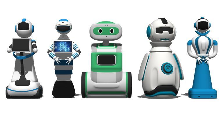 现代人工智能机器人 对话机器人 科技产品