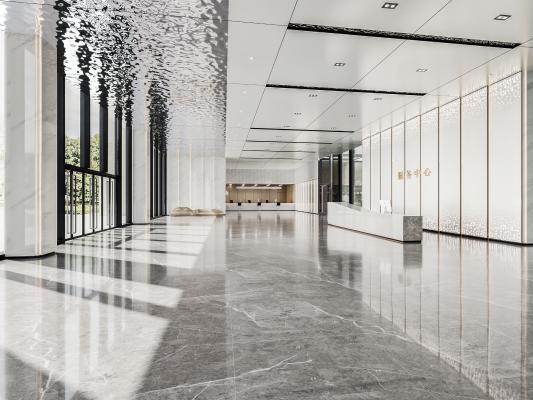 现代办公大厅 大堂 政府服务大厅
