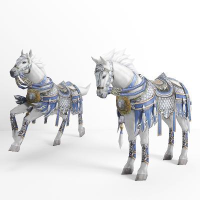 现代马匹 白马
