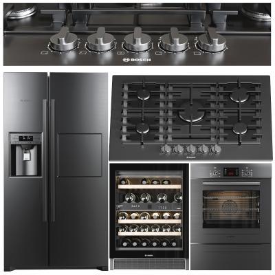 现代厨房电器 冰箱 酒柜