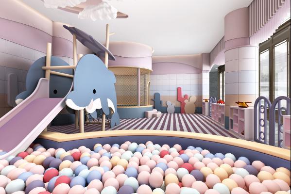 现代娱乐区 儿童游乐区