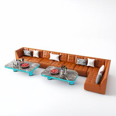 后现代组合沙发 KTV 转角沙发
