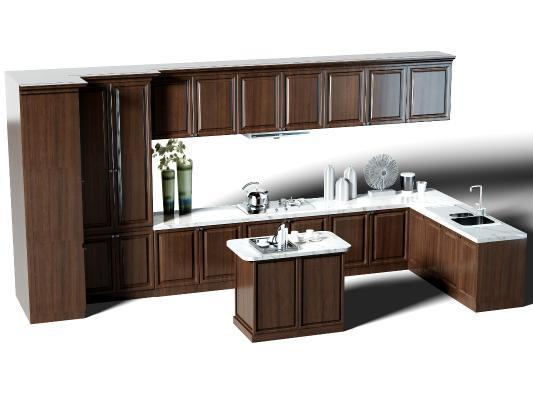 現代廚房櫥柜 中島柜 廚具