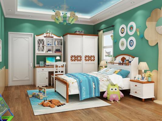地中海卧室儿童床