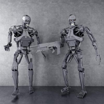 现代金属机器人摆件