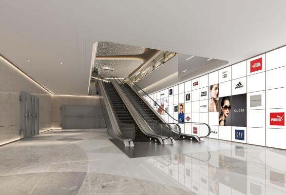 现代商业电梯厅