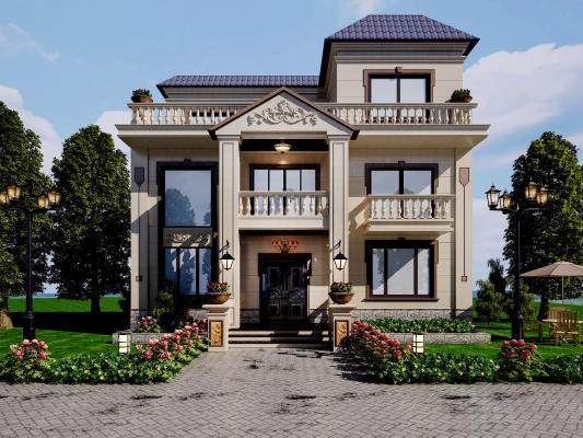 欧式别墅外观