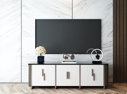 現代電視柜 陳設飾品