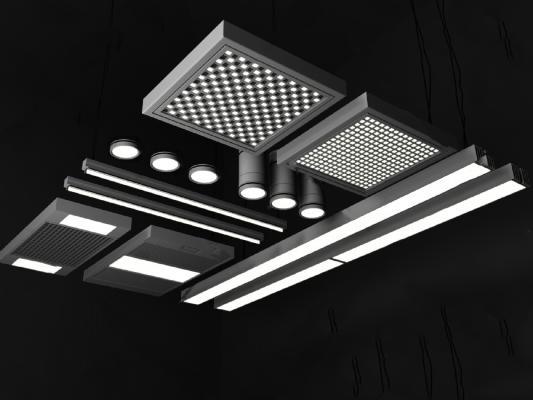 现代格栅灯
