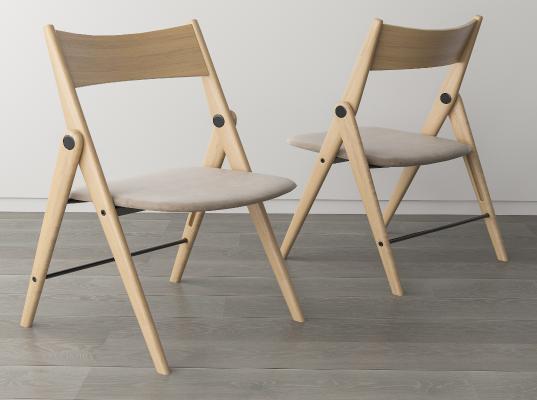 现代简约折叠餐椅 折叠椅