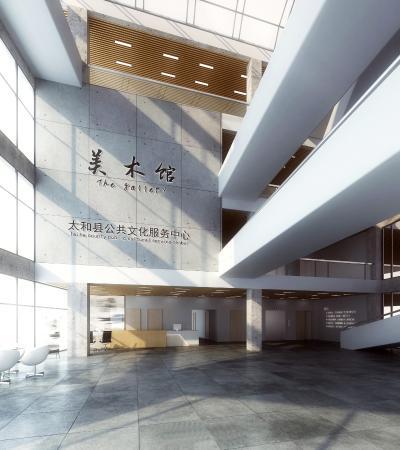 现代文化馆大厅