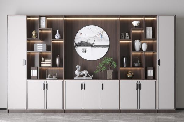 新中式書柜