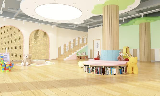 现代幼儿园大厅