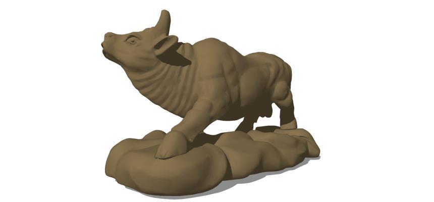 现代动物雕塑 十二生肖牛