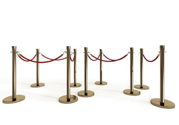 现代礼宾柱围栏