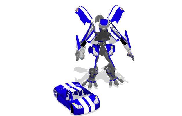 现代变形机器人 汽车玩具