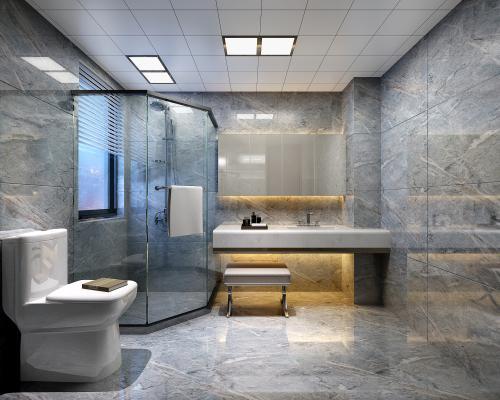 现代卫生间卫浴组合