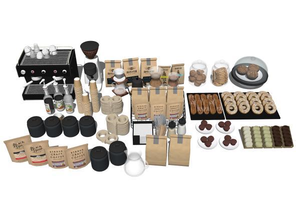 现代厨房用品 食物 咖啡机