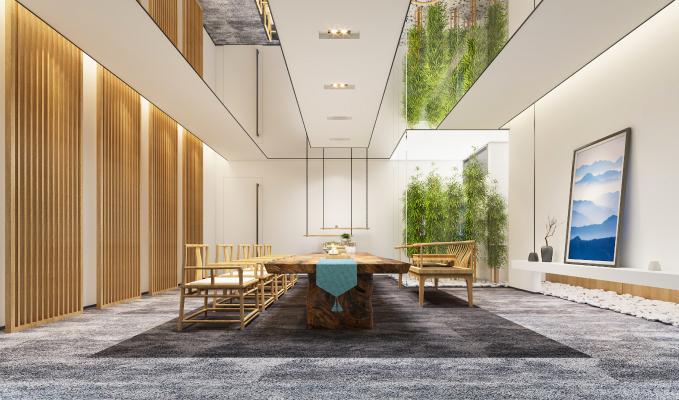 新中式风格接待区 茶室 会客室