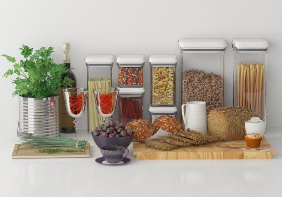 现代食物 粮食 陈设品 摆件