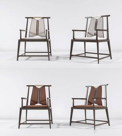 新中式单椅组合