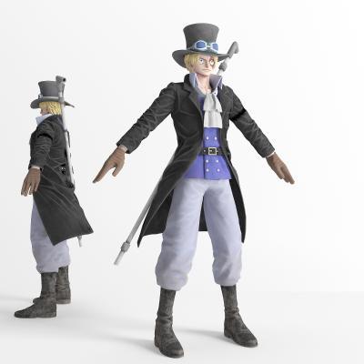 现代游戏人物 虚拟人物 海贼王萨博 动漫人物