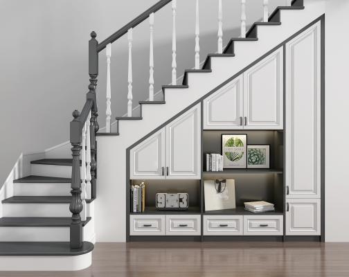 欧式楼梯橱柜组合