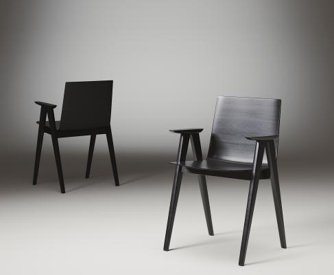 现代木质单椅