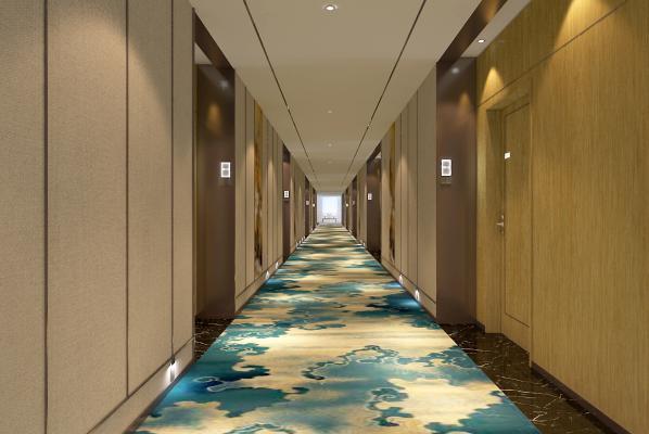 新中式宾馆走廊