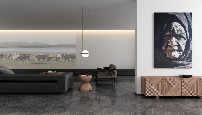 现代意大利极简会客厅 沙发单椅