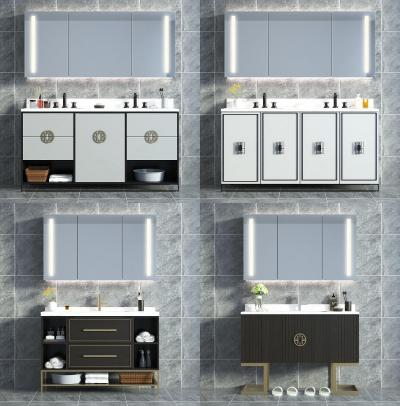 新中式浴室柜 洗手台组合