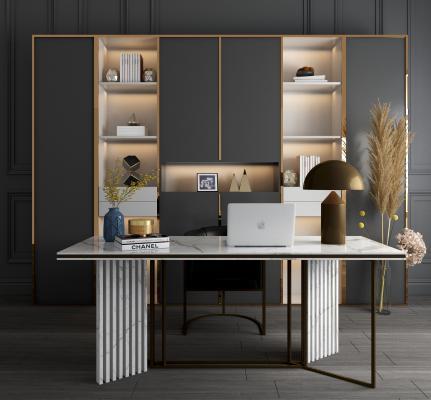 现代书桌椅 书柜 书架