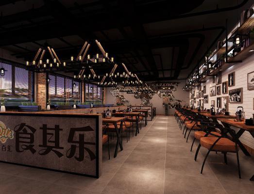 工业风西餐厅