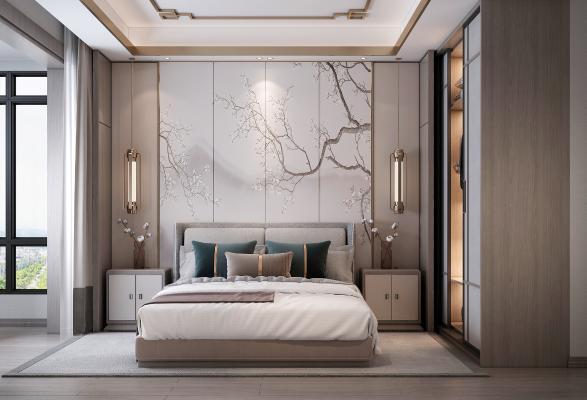 新中式主卧室