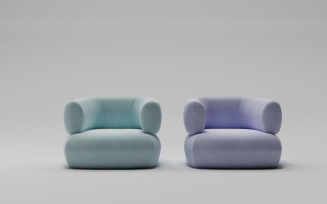 现代沙发 单人沙发 休闲沙发