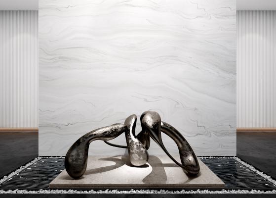 现代抽象雕塑 摆件