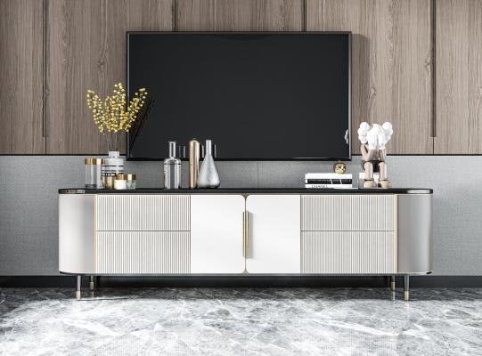 现代电视柜 雕塑 装饰柜 边柜 矮柜 餐边柜 挂画花瓶