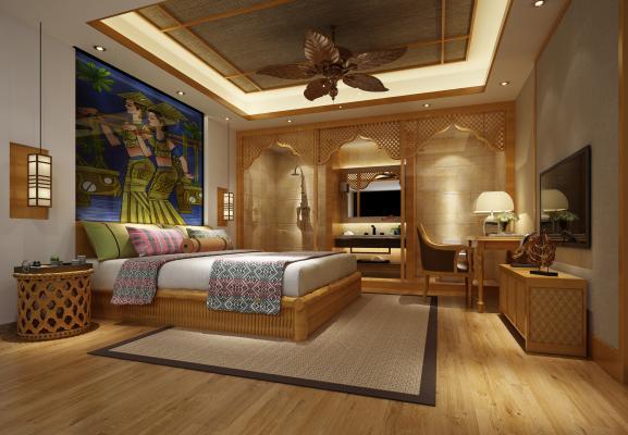 东南亚风格酒店客房