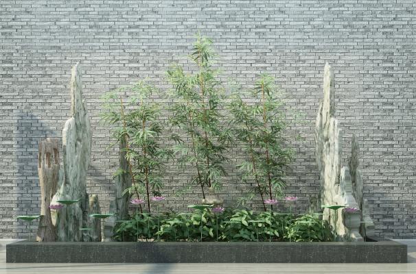 新中式竹子 园艺小品