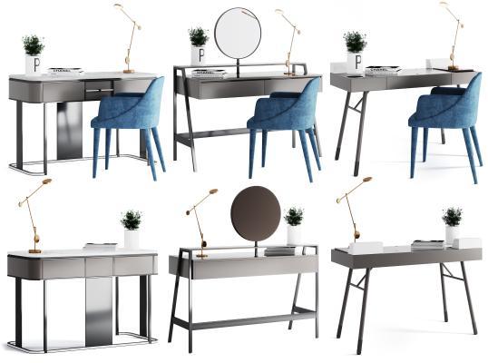 现代书桌 梳妆台